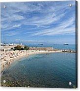 The Beach At Cap D' Antibes Acrylic Print