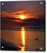 The Beach At Dawn Acrylic Print