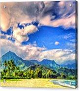 The Beach At Hanalei Bay Kauai Acrylic Print