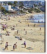 The Beach At Laguna Acrylic Print
