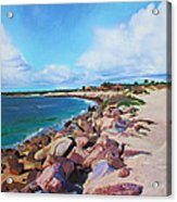 The Beach At Ponce Inlet Acrylic Print