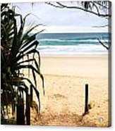 The Beach At Salt Acrylic Print