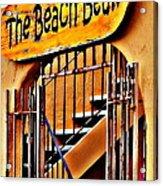 The Beach Bean Acrylic Print