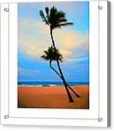 The Beach Poster Acrylic Print