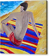 The Beach Towel Acrylic Print