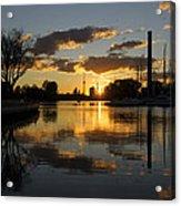 The Beaches Marina At Sunset Acrylic Print