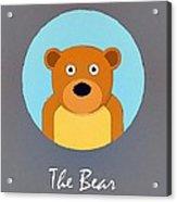 The Bear Cute Portrait Acrylic Print