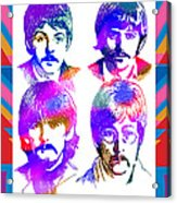 The Beatles Art Acrylic Print