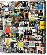 The Beatles Collage Acrylic Print by Taylan Apukovska