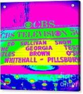 The Beatles Debut On Ed Sullivan Acrylic Print
