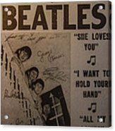 The Beatles Ed Sullivan Show Poster Acrylic Print