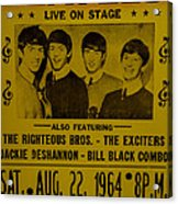 The Beatles First Time In Canada. Acrylic Print