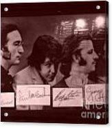 The Beatles In Old Photo Process At Fudruckers Acrylic Print