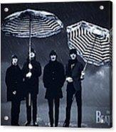 The Beatles in the rain Acrylic Print
