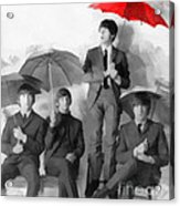 The Beatles - Paul's Red Umbrella Acrylic Print
