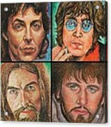 The Beatles Quad Acrylic Print