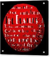 The Beatles Songs Baseball Square Acrylic Print