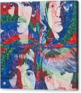 The Beatles Squared Acrylic Print