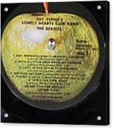 The Beatles Vinyl - Sgt. Pepper's Acrylic Print