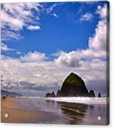 The Beautiful Cannon Beach Oregon Acrylic Print by David Patterson