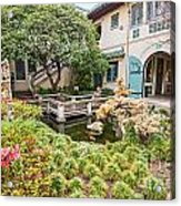 The Beautiful Courtyard Of The Pacific Asia Museum In Pasadena. Acrylic Print