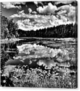 The Beautiful Fly Pond On Rondaxe Road - Old Forge Ny Acrylic Print by David Patterson