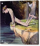 The Beautiful Narcissus Acrylic Print by Honore Daumier