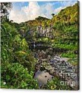 The Beautiful Scene Of The Seven Sacred Pools Of Maui. Acrylic Print
