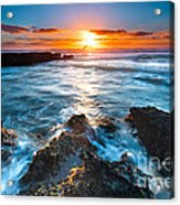 The Beautiful Sunset Beach Acrylic Print by Boon Mee