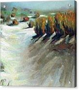 Desert Snow Acrylic Print