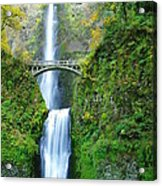The Beauty Of Multnomah Falls Acrylic Print
