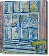 The Bedroom Window Oil & Pastel On Paper Acrylic Print