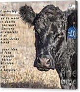 The Beef Industry Acrylic Print