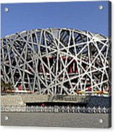 The Beijing National Stadium - Site Of 2008 Olympic Games Acrylic Print by Brendan Reals