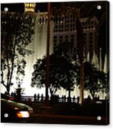 The Bellagio At Night Acrylic Print