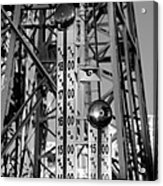 The Bells Of Coney Island In Black And White Acrylic Print