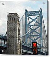 The Ben Franklin Bridge Acrylic Print