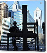 The Ben Franklin Printing Press Statue Acrylic Print