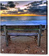 The Bench II Acrylic Print by Peter Tellone