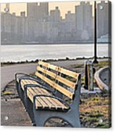 The Bench Acrylic Print by JC Findley