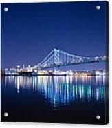 The Benjamin Franklin Bridge At Night Acrylic Print