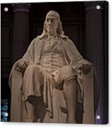 The Benjamin Franklin Statue Acrylic Print