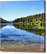 The Best Beach In Glacier National Park Panorama 2 Acrylic Print