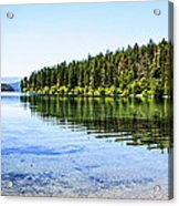 The Best Beach In Glacier National Park Panorama Acrylic Print by Scotts Scapes