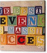 The Best Revenge Is Massive Success Acrylic Print