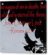 The Bible Eternal Life  Romans Acrylic Print