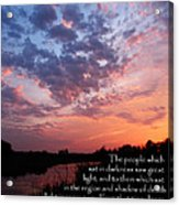The Bible Matthew 4 Acrylic Print