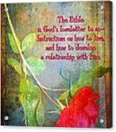 The Bible Acrylic Print