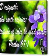 The Bible Psalms 97 Acrylic Print