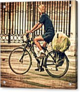 The Bicycle Rider - Leon Spain Acrylic Print